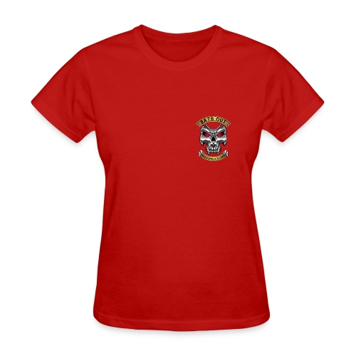 Women_Bats Out Cycling_Red - Women's T-Shirt