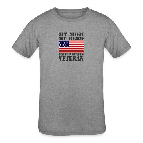 USA HERO MOM HERO VETERAN MOTHER USAts - Kids' Tri-Blend T-Shirt