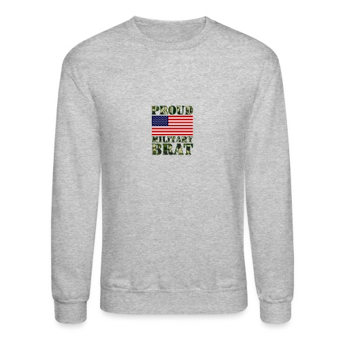 USA FLAG PROUD MILITARY BRAT USATS - Crewneck Sweatshirt