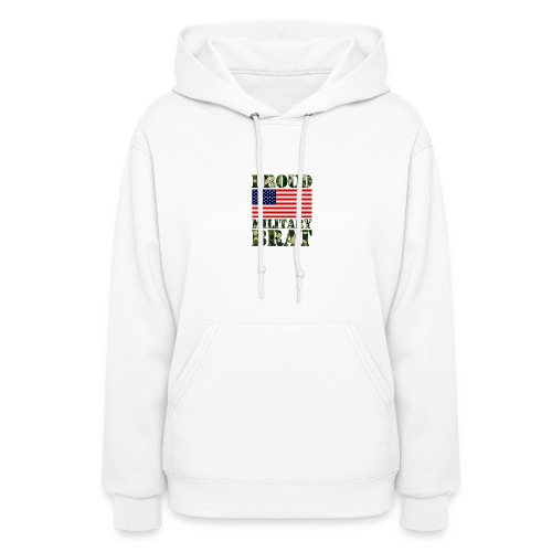 USA FLAG PROUD MILITARY BRAT USATS - Women's Hoodie