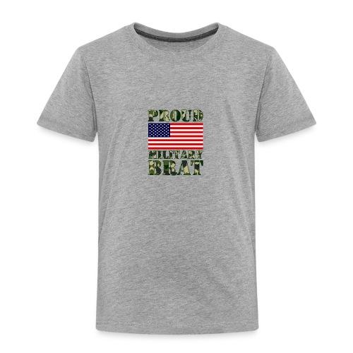 USA FLAG PROUD MILITARY BRAT USATS - Toddler Premium T-Shirt