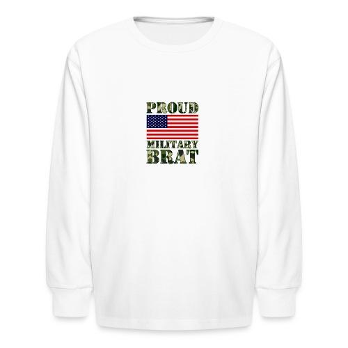 USA FLAG PROUD MILITARY BRAT USATS - Kids' Long Sleeve T-Shirt