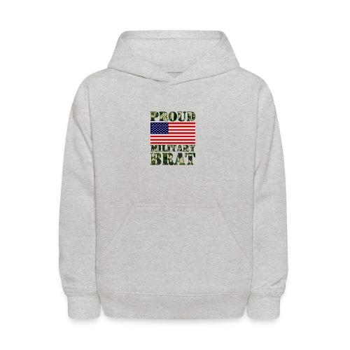 USA FLAG PROUD MILITARY BRAT USATS - Kids' Hoodie