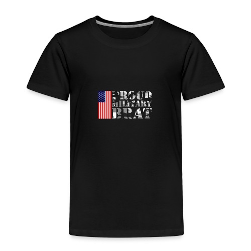 USA FLAG PROUD MILITARY BRAT USATS - Toddler Premium T-Shirt