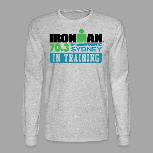 70.3 Western Sydney In Training Men's Long Sleeve T-shirt - Men's Long Sleeve T-Shirt