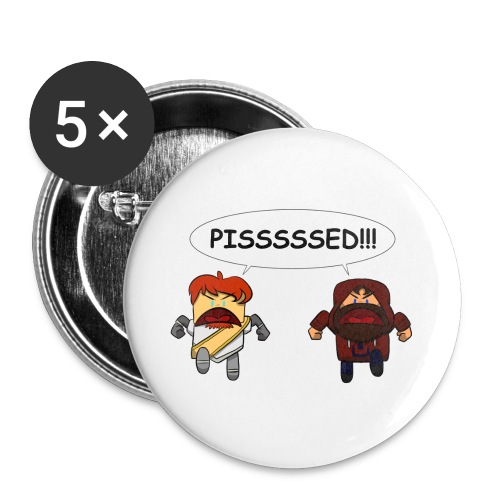 Adventure Lads Pisssed Buttons - Large Buttons