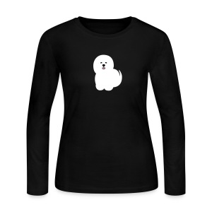Women's Long Sleeve Jersey T-Shirt - Another cute Coton de Tulear graphic!