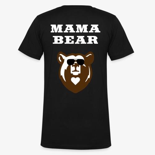 Mama Bear Custom Shirt - Mens V-Neck - Men's V-Neck T-Shirt by Canvas