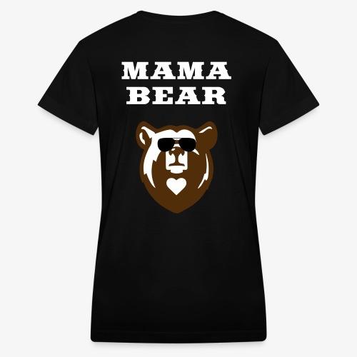 Mama Bear Custom Shirt - Womens V-Neck - Women's V-Neck T-Shirt