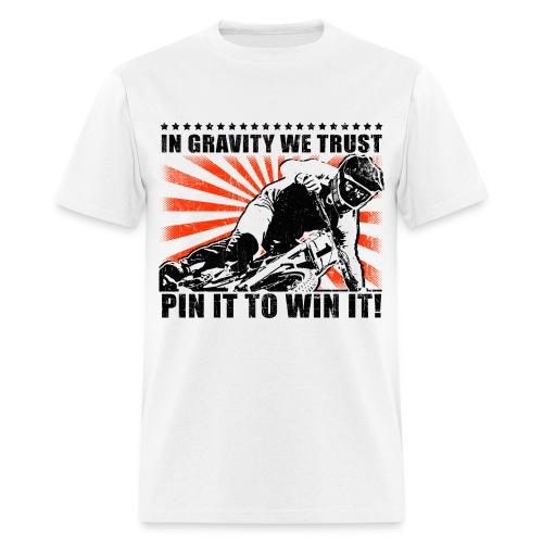 Pin It | White Black Orange | Mens T-Shirt - Men's T-Shirt