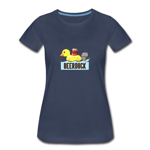Beer Duck Shirt - Womens - Women's Premium T-Shirt