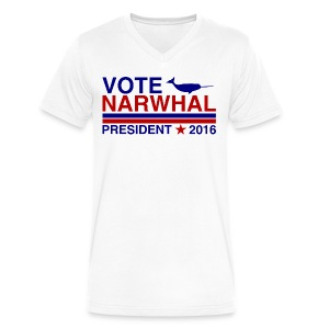 Vote Narwhal 2016 - Men's V-Neck T-Shirt by Canvas