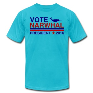 Vote Narwhal 2016 - Men's T-Shirt by American Apparel