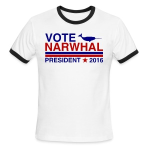 Vote Narwhal 2016 - Men's Ringer T-Shirt