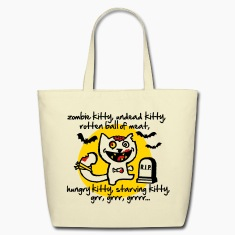 zombie kitty Bags