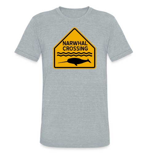 Narwhal Crossing - Unisex Tri-Blend T-Shirt