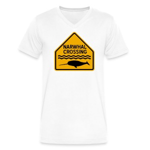 Narwhal Crossing - Men's V-Neck T-Shirt by Canvas