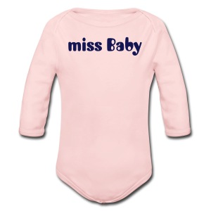 miss Baby - Long Sleeve Baby Bodysuit