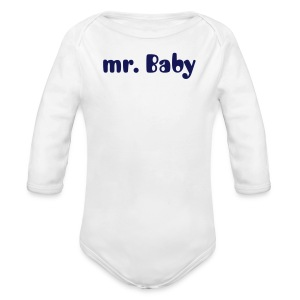 mr Baby - Long Sleeve Baby Bodysuit