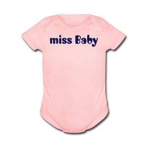 miss Baby  - Short Sleeve Baby Bodysuit