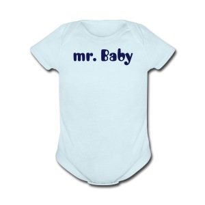 mr Baby  - Short Sleeve Baby Bodysuit