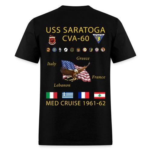 USS SARATOGA CVA-60 MED CRUISE 1961-62 CRUISE SHIRT - Men's T-Shirt