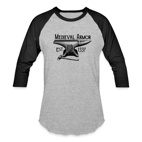 Medieval Armor Anvil 3/4 Sleeve - Baseball T-Shirt