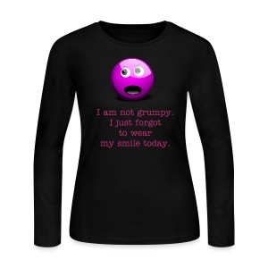 Not grumpy. Forgot to wear a smile today. - Women's Long Sleeve Jersey T-Shirt