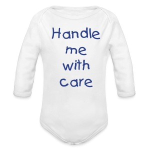 Handle me with care - Long Sleeve Baby Bodysuit