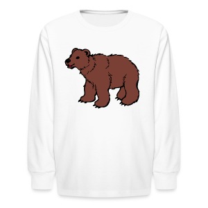 brown bear riddle shirt - Kids' Long Sleeve T-Shirt