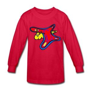 butterfly riddle shirt - Kids' Long Sleeve T-Shirt