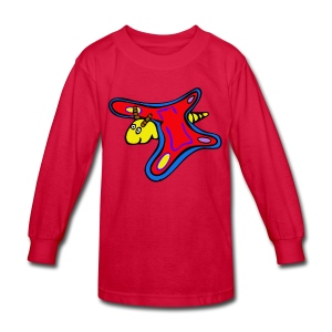 butterfly riddle shirt - Kids' Long Sleeve T-Shirt
