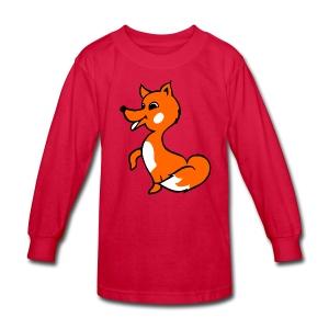 fox riddle shirt - Kids' Long Sleeve T-Shirt