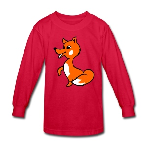 fox riddle shirt - Kids' Long Sleeve T-Shirt