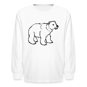 polar bear riddle shirt - Kids' Long Sleeve T-Shirt