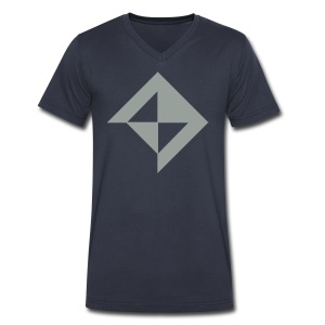 Vault in Grey - Men's V-Neck T-Shirt by Canvas