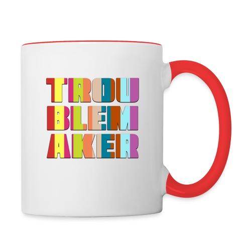 Troublemaker Striped Mug - Contrast Coffee Mug