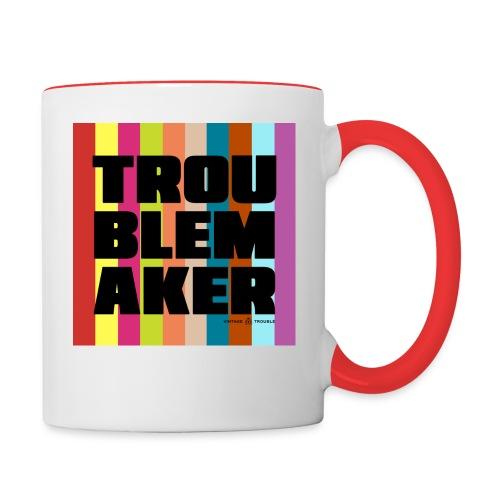 Troublemaker Mug - Contrast Coffee Mug