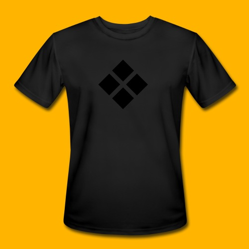Team Free Run Logo Red Lined back T-Shirt - Men's Moisture Wicking Performance T-Shirt