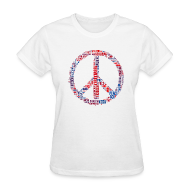 T-Shirts ~ Women's T-Shirt ~ Peace Sign Translated Tee