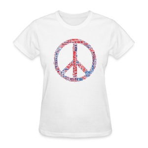 Peace Sign Translated Tee - Women's T-Shirt