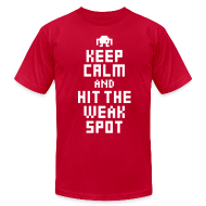 T-Shirts ~ Men's T-Shirt by American Apparel ~ Keep Calm and Hit The Weak Spot 8Bit Tee