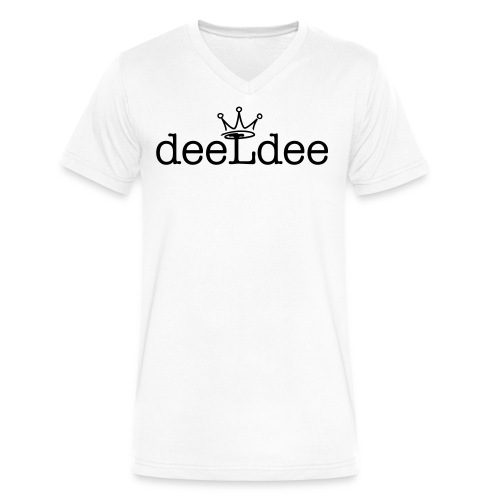 DeeLDee Logo V Neck - Men's V-Neck T-Shirt by Canvas