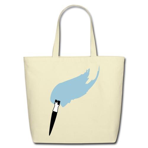Eco-Friendly Cotton Tote - Paint Brush Paintbrush Art Artsy Artist Tote Bag Purse Pretty Unique Creative
