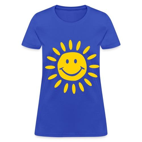Women's T-Shirt - Sunny Sun Sunshine Bright Shine Cheery Cheer Joy Happy Beautiful Sky Spring Summer