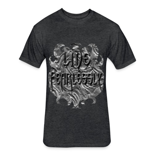 Live Fearlessly Men's Fitted T-shirt - Fitted Cotton/Poly T-Shirt by Next Level