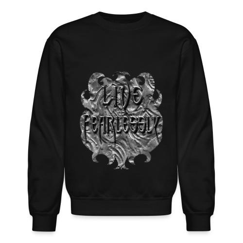 Live Fearlessly Men's Crewneck Sweatshirt - Crewneck Sweatshirt