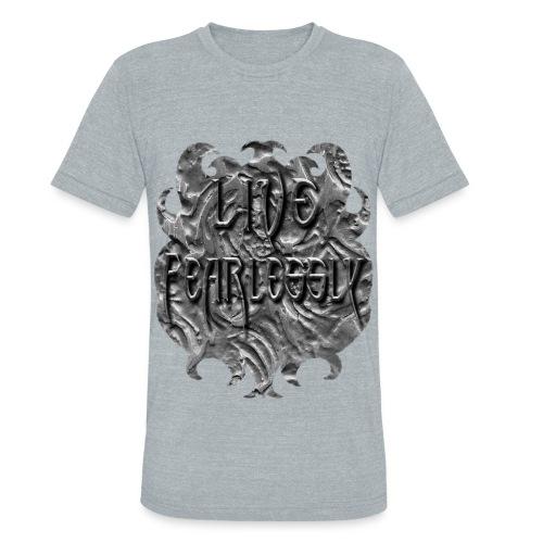 Live Fearlessly Men's Tri-Blend T-shirt - Unisex Tri-Blend T-Shirt