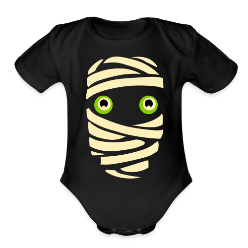 Funny Halloween Baby Onesie Baby Mummy Costume - Organic Short Sleeve Baby Bodysuit