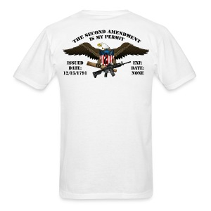 2nd Amendment Permit w/Black lettering  - Men's T-Shirt